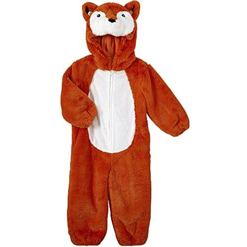 Koala Kids Kinder Baby Halloween Fasching Karneval Kostüm Fox Fuchs Plüsch Fell Overall (Kostüme Koala Baby)