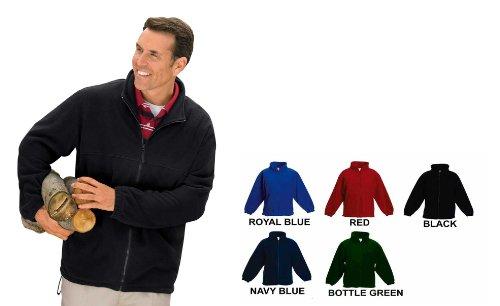 Homme Fermeture Éclair complète Classique en Polaire Veste Tailles XS au 4 x L Convient pour Travail et Loisirs (4 x L – XXXXL, Bleu Marine)