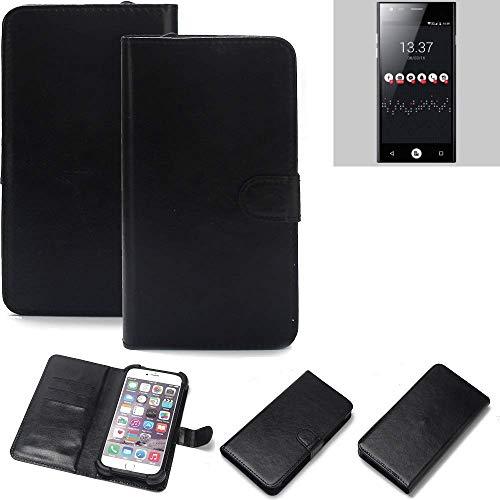 K-S-Trade® Wallet Case Handyhülle Für ID2ME ID1 Schutz Hülle Smartphone Flip Cover Flipstyle Tasche Schutzhülle Flipcover Slim Bumper Schwarz, 1x