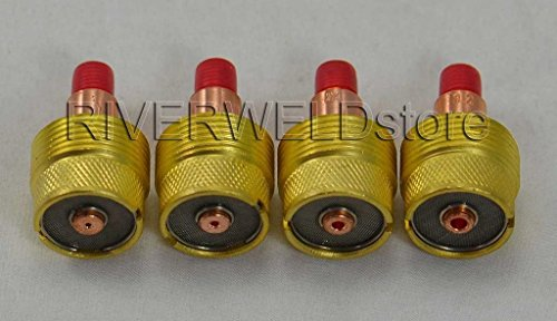 4pcs TIG grand diamètre gaz Objectif Collet corps KIT Fit TIG torche de soudage DB SR WP 9 20 25