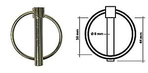 Lot de 25 Goupille clip 8mm x 44mm - Anneau métal - Ø8mm