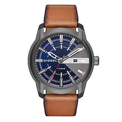 Diesel Mens Analogue Quartz Watch with Leather Strap DZ1784