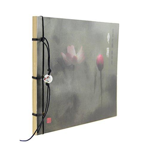 Liying Neu Notizbuch tagebuch Skizzenblock Skizzenbuch Zeichenblock Softcover 80g/m² 80 Seiten schöne Blumen Kraftpapier Blanko