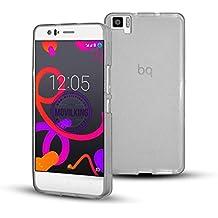 Funda de Gel Silicona para BQ AQUARIS M5 color BLANCO TRANSPARENTE - Envio por mensajeria URGENTE