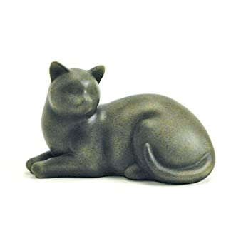 Near & Dear Pet Memorials Elite Cat Resin Cremation Urn, 25 Cubic Inch, Fawn 8