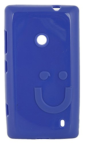 iCandy™ Imported Quality Soft TPU Smiley Back Cover For Nokia Lumia 520 / Lumia 525 - Blue  available at amazon for Rs.180