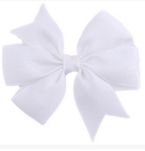 Demarkt Niedlich Schleife Haarclips / Haarspangen Haarschmuck Ribbon Haar-Clips Für (Haare Weiß)