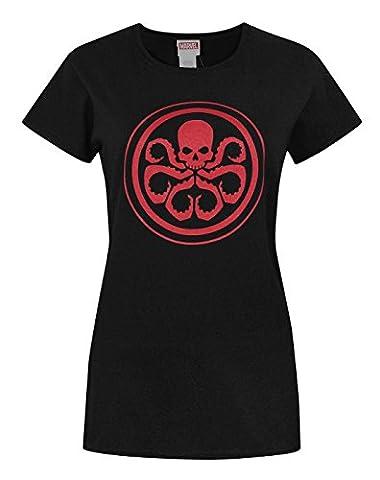Official Marvel Hydra Logo Women's T-Shirt (M)