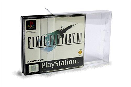10 Klarsicht Schutzhüllen Playstation 1 [10 x 0,3MM PS1 DCD] Spiele Passgenau Glasklar