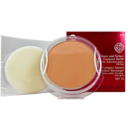Sheer Finish Compact Foundation (Shiseido Sheer und Perfect Compact Refill unisex, Puder Foundation 10 g, Farbnummer: I60 deep ivory Refill, 1er Pack (1 x 0.21 kg))