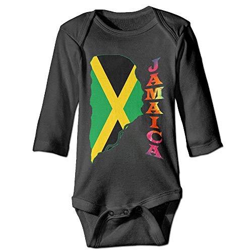 Monicago Neugeborenes Baby Jungen Mädchen Babybody Lange Ärmel Jamaica Classic Flag Colorful Tie Dye Baby Durable Long Sleeve Bodysuits Onesies (Lange Dusche Vorhang Liner)