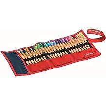 STABILO point 88 - Rotulador punta fina - Estuche premium de tela Rollerset con 25 colores