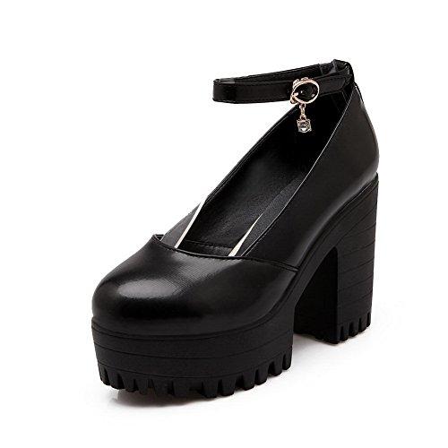 BalaMasa dita, da donna, con fibbia, altezza tacco alto, in plastica, per scarpe, pompe Black