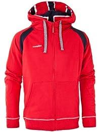 Twentyfour Norge Sweat zippé à capuche pour homme Rouge Rouge