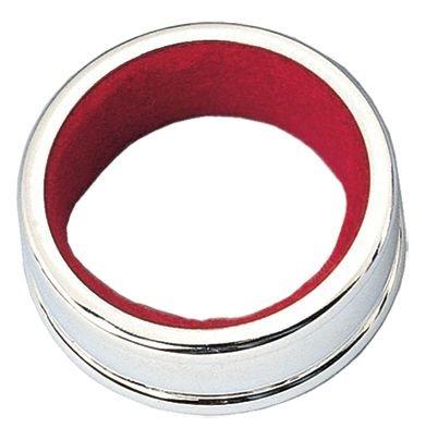 1.62 Inch Silver Plated Red Felt Regal Wine Bottle Drip Collar by Franmara