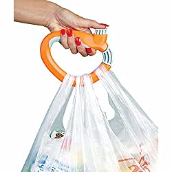 Absales One Trip Grip Bag Handle Grocery Carrier Holder Carry Multiple Plastic Bags Lock