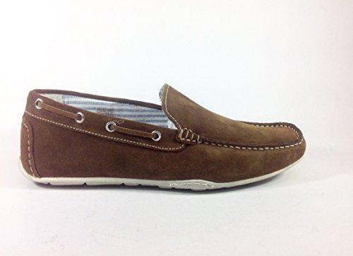 Chaussures homme casual Mocassino 2105 en daim Multicolore - Bruciato