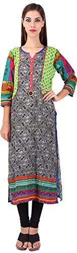 Only Colours Women's Silk Regular Fit Kurta