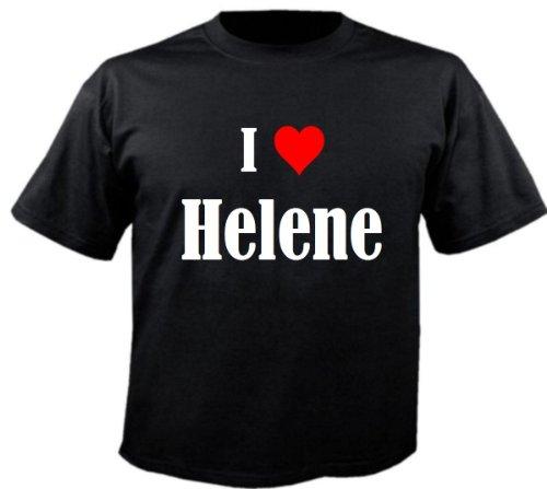 Herren T-Shirt I Love Helene Größe M Farbe Schwarz Druck Weiss