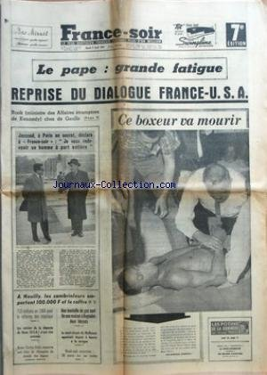 FRANCE SOIR 7 EME EDITION du 09/04/1963