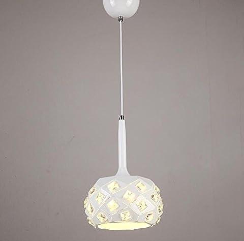 GL&G Moderne Art-helle Eisen-Festlampe Kronleuchter Pendent Licht für Flur, Schlafzimmer, Küche, Kinderzimmer-Lampen, LED-Birne eingeschlossen, warmes weißes Licht,1 head,20*30cm