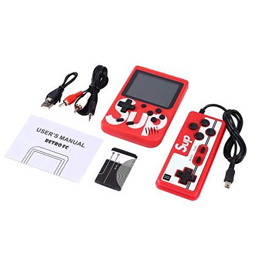 DERNON SUP Marke Retro Mini Gameboy Spielkonsolen Emulator Eingebaute Batterie 400 Spiele rot