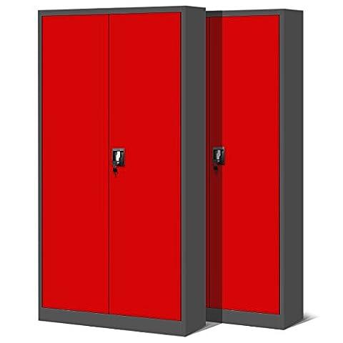 Ensemble de 2 classeur, classeur, armoire métallique, coffret en acier,