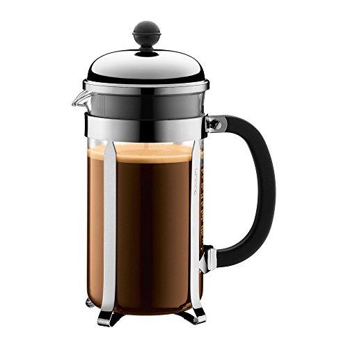 Bodum Chambord Kaffeebereiter, edelstahl glänzend 17,1 x 24,5cm 1,0L 8 Kaffeetassen