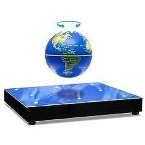 Globe flottant avec base lévitation miroir lumineuse