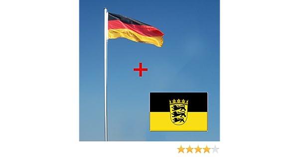 Wohnwerk flaggenmast m mit deutschlandfahne und extra fahne