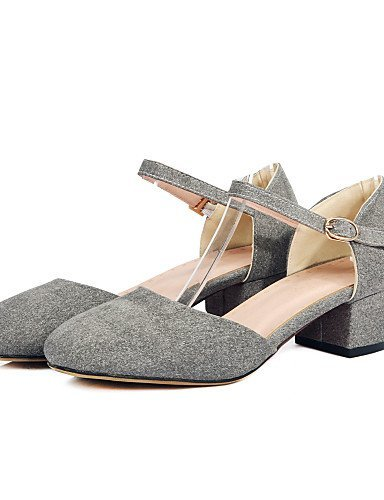 ShangYi Chaussures Femme - Mariage / Extérieure / Habillé / Décontracté - Rouge / Gris / Beige / Orange - Gros Talon - Confort / Bout Arrondi - Orange
