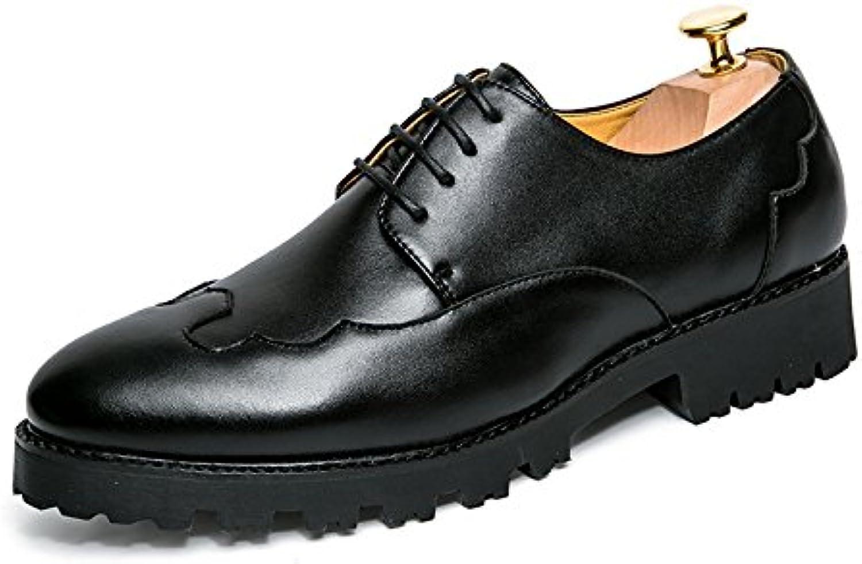 Herren Freizeitschuhe Kleid Schuhe Frühling Herbst Schwarz Braun Khaki Spitze Schuhe Canvas Sport Sandalen