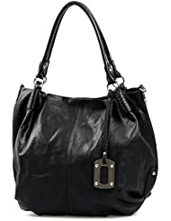 IO.IO.MIO Borsetta per le Icone® , Cabas pour femme Noir Noir 48x37x16 cm