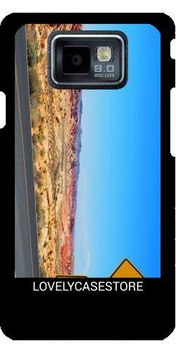 Hülle für Samsung Galaxy S2 (GT-I9100) - Straße USA USA Drehen Vereinigte Staaten Wüste Arid Sun Sky Blue