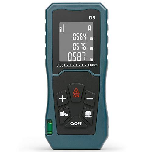 Traioy Misuratore di Distanza Laser Digitale, Selezione della Portata di 40 m / 60 m / 100 m, mirino Laser Portatile, Area, calcolo del Volume e telemetro,100M
