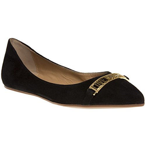Love Moschino Logo Ballet Point Donna Scarpe Nero