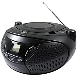 Metronic 477146 Radio CD portable avec Port USB pour CD/CD-R/RW/MP3, Noir Mate