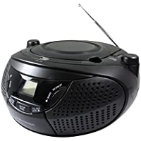 Metronic 477146 Radio CD Portable avec Port USB pour CD/CD-R/RW/MP3, Noir Mate