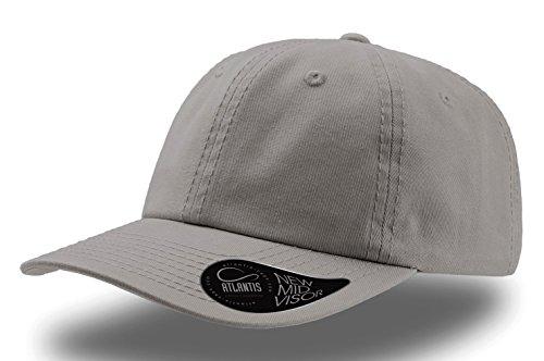 Atlantis Dad Hat Baseball Cap 100% Baumwolle Chino gewaschen Hut Hüte Kappen Chapeaux Mütze Schnalle Metall, grau -