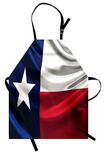 Amerikanisches Schutzblech vorbei, Flagge von Texas einsamer Stern-Flaggen-Hymne-Nationalitäts-Stolz-offizielles Zeichen, Unisexküchen-Latzschürze mit justierbarem Hals für das Kochen Backen-Gartenarb