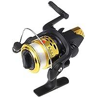 LIOOBO 200 Carrete de Pesca de Hilado pequeño con Cable para la Pesca de Agua Salada o de Agua Dulce (Golden
