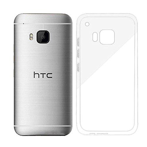 HTC One M9 Hülle, Weiche Silikon Gel Handyhülle Rückseitenabdeckung Transparent Dauerhaft Kratzsicher Schützend, Crystal case Cover TPU Bumper für Das HTC One M9