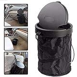 RANRANHOME Auto Trash bin lattine Pieghevole Spazzatura Porta Polvere Spazzatura Casi Auto Organizer Storage Bag