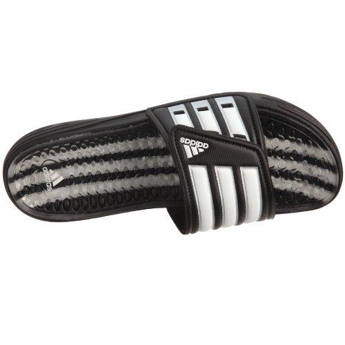 adidas Herren Badelatschen - Calissage , schwarz - weiss - silber , Gr. 37 (UK 4) -