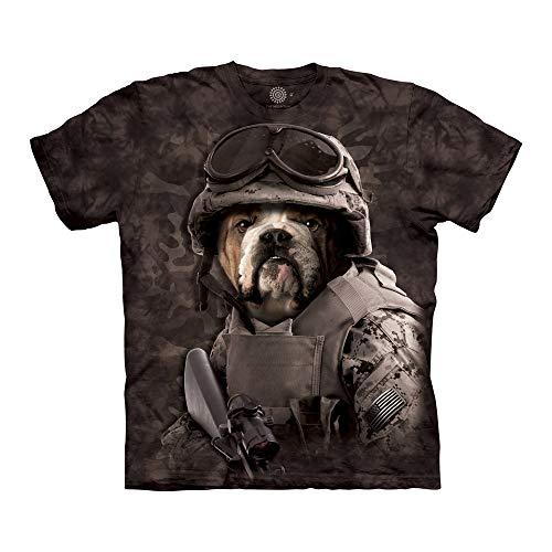 The Mountain Unisex-Erwachsene Combat Sam T-Shirt, schwarz, Groß