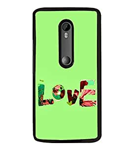 FUSON Love Fabric Text Designer Back Case Cover for Motorola Moto G3 :: Motorola Moto G (3rd Gen) :: Motorola Moto G3 Dual SIM