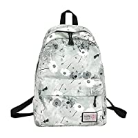 ACDGS Ladies Backpack Teen High School Female Student Campus Bag Two Shoulder Bags Student Backpack Bag ACDGS (Color : Flower, Size : 43x30x14cm)