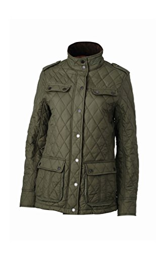 Ladies' Diamond Quilted Jacket in dark-olive Größe: XL