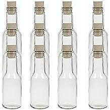 hocz Juego de Botellas de Cristal tapón de Corcho, 6/8 / 10 Piezas