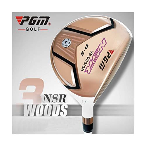 WHARMSS Golfschläger Titan Nr. 1 3 5 L 6,5 Holz Rechtshänder Fahrer Hochwertige Fairway-Roségold-Kick-Off-Graphithölzer,3#